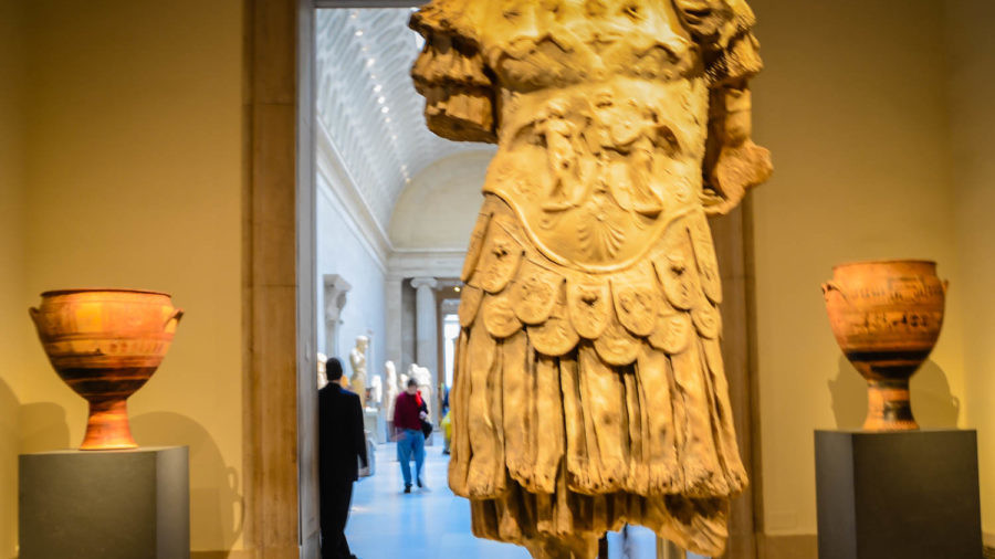 Greek and Roman gallery at The Metropolitan Museum in New York City.