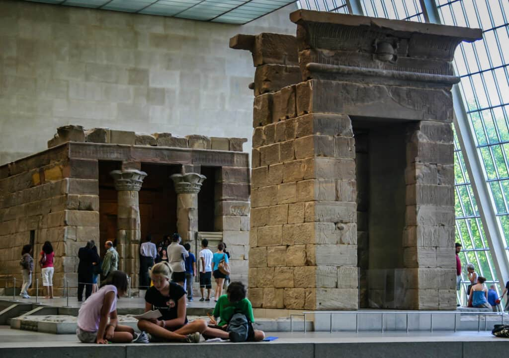 Temple of Dendur exhibit at the Metropolitan Museum of Art in New York City.