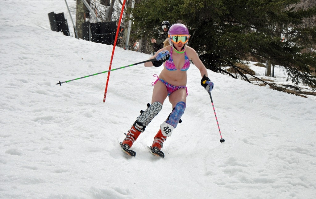 ... the chance to ski in bikinis with their buddies?