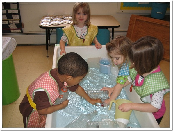 Preschoolers at play at The Taylor School.