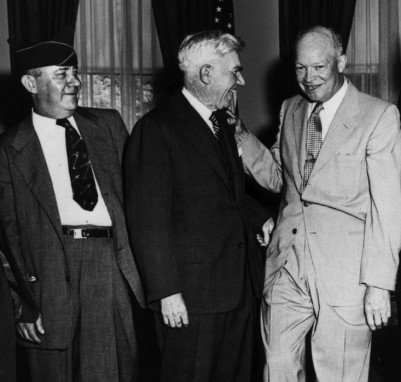 Alvin King, US Rep. Rees, President Eisenhower (photo courtesy of the IM Design Group)