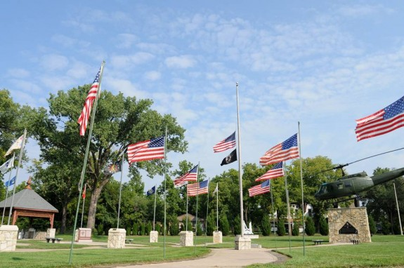 The All Veterans Memorial in Emporia, constructed in 1991 (photo courtesy of the IM Design Group)