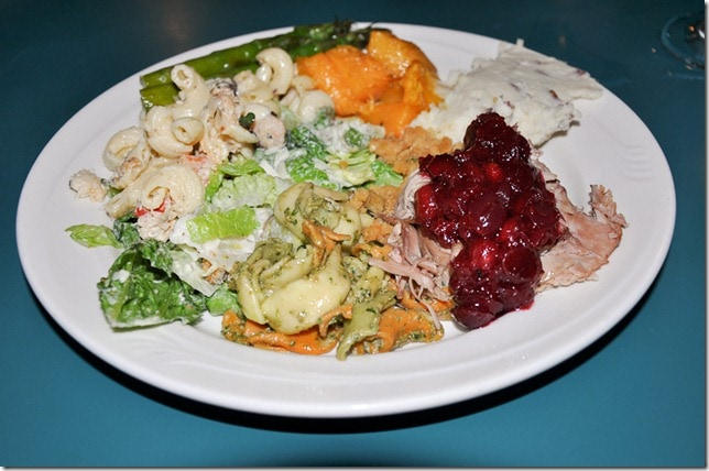 Thanksgiving Feast with Seafood Salad