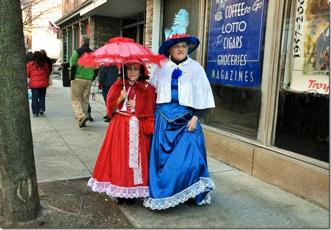 Victorian Stroll - Mother and Daughter