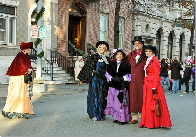 Victorian Stroll - women in fancy dress