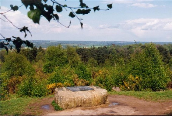 Memorial to AA Milne in Ashdown Forest near Gills Lap