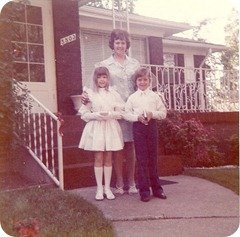 First Communion wearing dress made by Meme. Bethesda, MD 1973