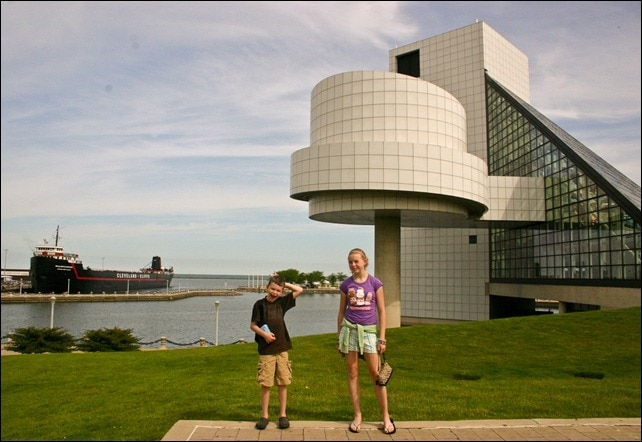 Kids at The Rock and Roll Hall of Fame - Cleveland OH
