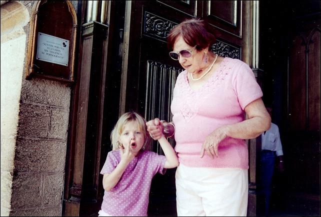 Meme holds Kayla's hand - Lujan, Argentina