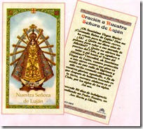 Lujan Catholic Prayer Card
