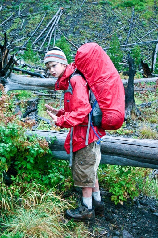 Backpacking with Kids in Yellowstone National Park