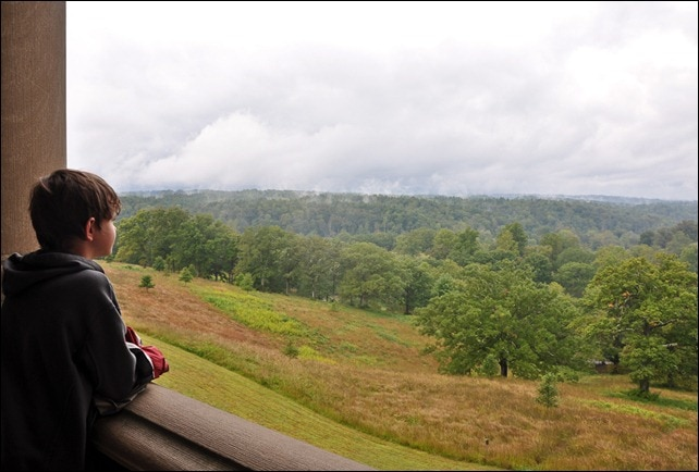 Biltmore Mansion - Asheville NC - View of rolling green hills.