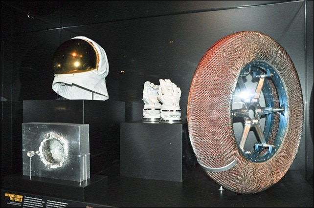 Gold astronaut accessories - Beyond Planet Earth - AMNH