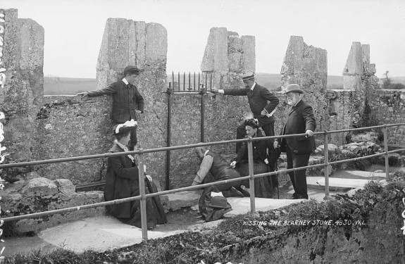 Kissing the Blarney Stone, 1897