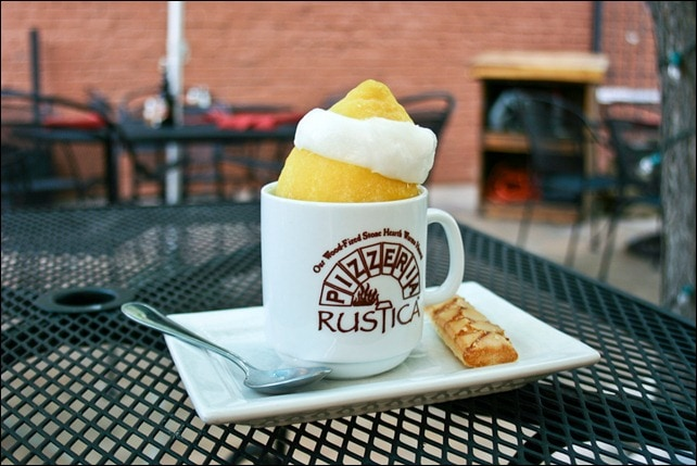 Lemon Sorbet in a Lemon - Pizzeria Rustica, Colorado Springs