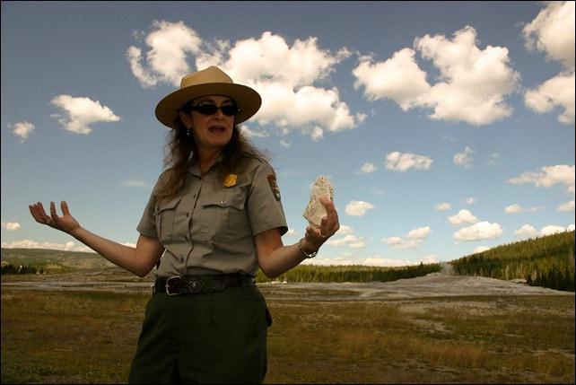 Park Ranger - Old Faithful Geyser Yellowstone National Park