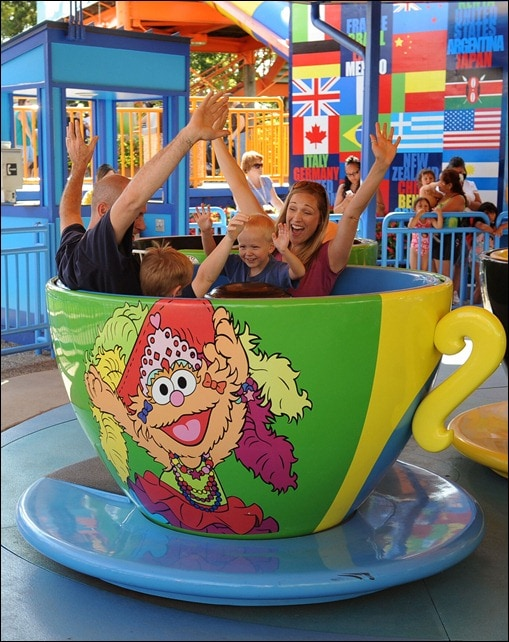 A trip around the world at Sesame Place.