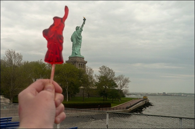 Statue of Liberty lollipop