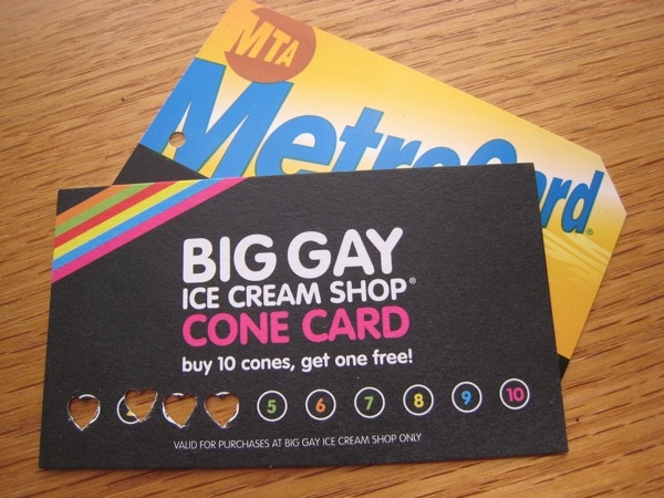 Big Gay Ice Cream Shop free cone program