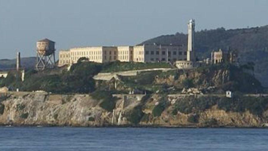 Full view of Alcatraz as seen from Pier 39 in San Francisco