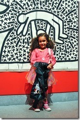 Keith Haring exhibit and a young patron of the arts