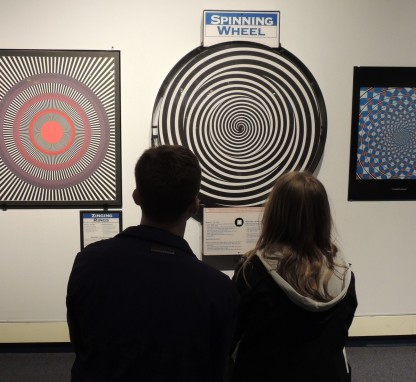 Mesmerized by optical illusions, Boston Museum of Science