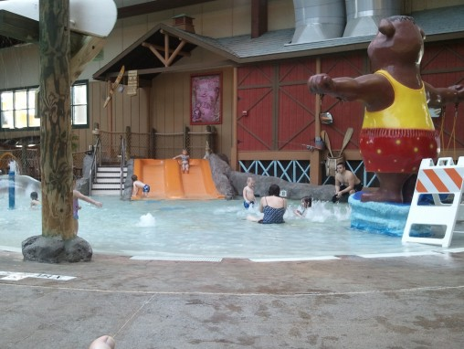 White Water Bay comes equipped with toddler sized slides, too! Great Escape White Water Bay Indoor Water Park