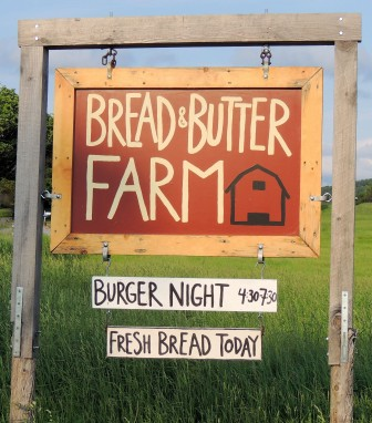 Bread and Butter Farm sign, Shelburne, VT