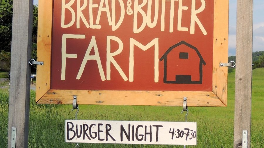 Bread and Butter Farm sign, Shelburne, VT