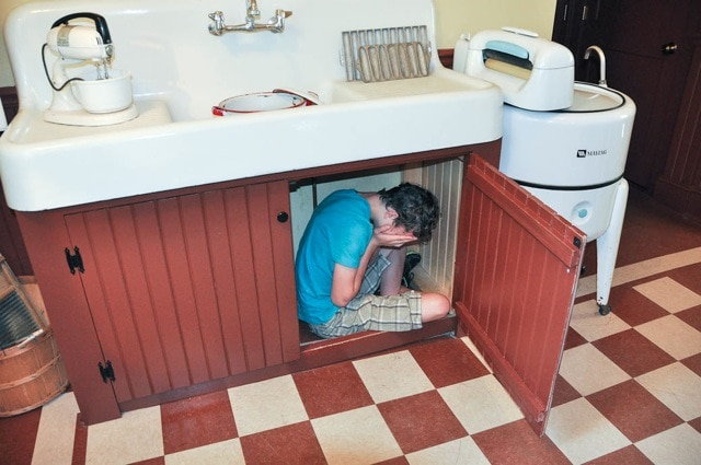 Christmas story under the cupboard