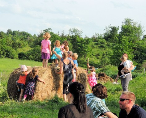 Family Fun at Burger Night, Bread and Butter Farm, Shelburne, VT