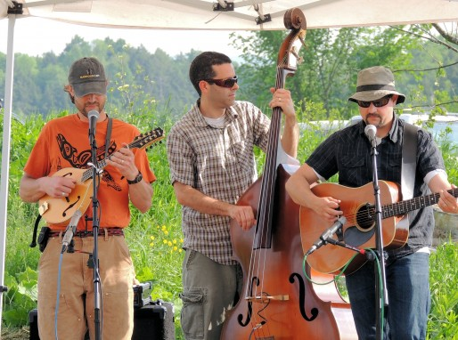 Flat Top Trio, playing at Burger Night, Bread and Butter Farm, Shelburne, VT