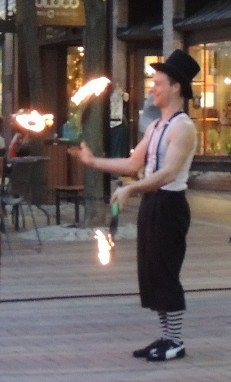 Playing with Fire - John Stork, Church Street Marketplace, Burlington Vermont
