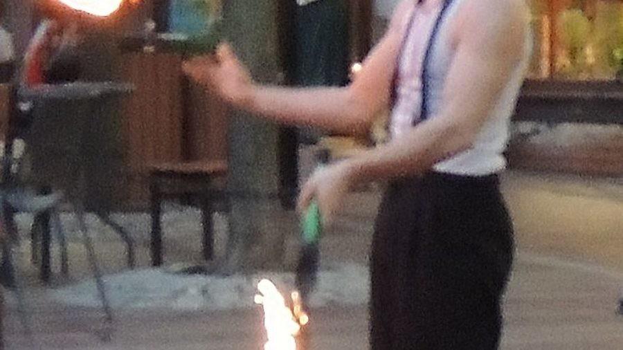 Playing with Fire - John Stork, Church Street Marketplace, Burlington Vermont