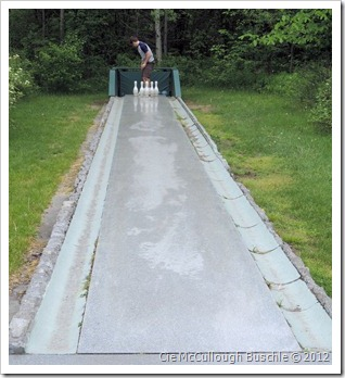 Outdoor Bowling Lane - Rock of Ages Vermont