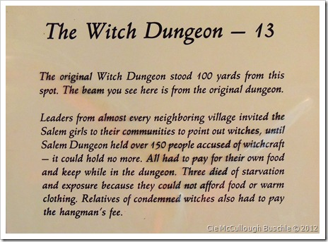 """The Witch Dungeon"", Witch Dungeon Museum, Salem Massachusetts"