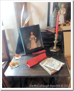 Work desk, Witch House, Salem Massachusetts