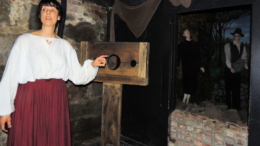 Chills at the Witch Dungeon Museum, Salem Massachusetts