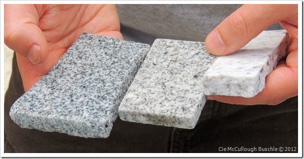 Samples of Granite - Rock of Ages, Vermont