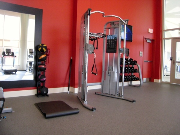 Homewood Suites University City  Philadelphia Fitness Weights.JPG