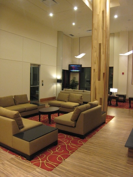 """Homewood  <p/> Suites University City Philadelphia Lobby2.jpg"""" title=""""Homewood Suites University City Philadelphia Lobby2.jpg"""" border=""""0″ width=""""450″ height=""""600″ /></p> <p>While this <strong>Homewood Suites</strong> is not in Center City Philadelphia, we found the subway to be more than adequate for getting us to and from all the sights we wanted to check out.  Parking can be a dreadful nightmare in Philly, so we made it a point to avoid the need for it as much as possible. It's a short walk from the hotel to the 40th street station of the Market-Frankford Line,  aka the Blue Line, and it was quick, easy, and lots of fun getting to the sights.  We found the trains to be clean, efficient and very pleasant to use. It took no more than 20 minutes, total with walking time, for me to get to the US Mint near the Old City from the hotel, and that was during morning rush hour! </p> <p><em>Disclosure: The <a href="""