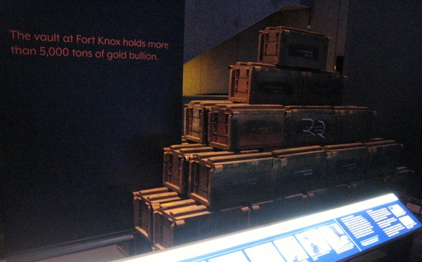 Wooden Chests for Gold at US Mint Public Exhibit