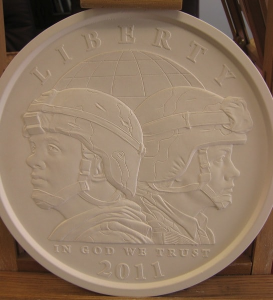 Philadelphia Mint Plaster Model for New Coin
