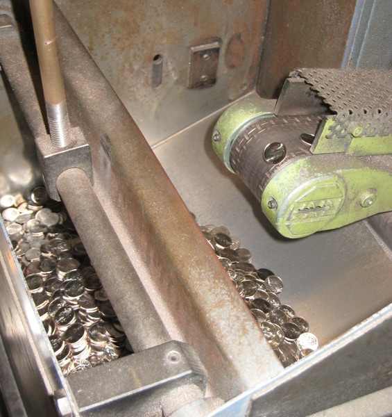 Philadelphia Mint Stamping Machine Finished Coins