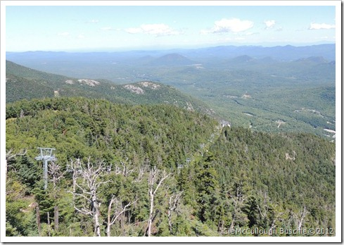 Looking north, Whiteface Cloudsplitter Gondola, Lake Placid