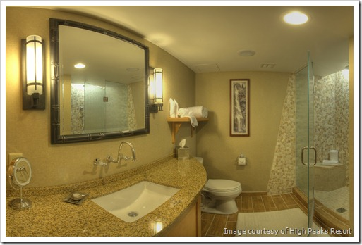 Beautiful bathroom, High Peaks Resort, Lake Placid