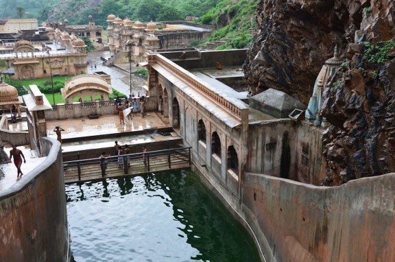 """Galwar Bagh - Every year thousands come to bathe in the holy natural spring waters which are collected in seven tanks or """"kunds."""""""