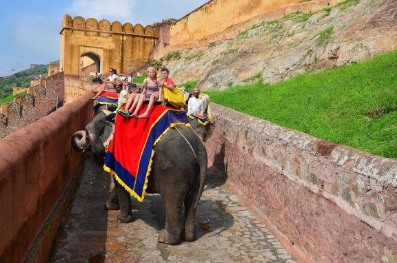Jaipur Amber Fort elephant ride