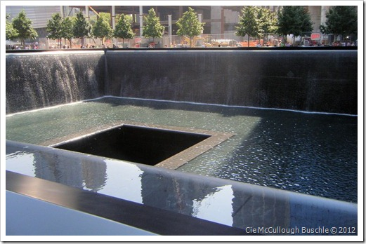 Reflecting Pool, Footprint of WTC 2, National September 11 Memorial, New York City