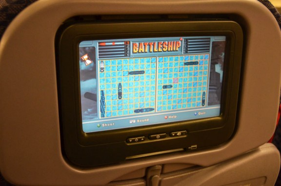 United Airlines screen